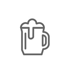 simple beer mug line icon symbol and sign vector image