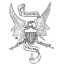 the national motto of the united states of vector image vector image