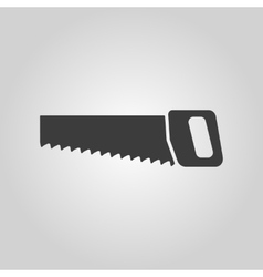 The saw icon Saw symbol Flat vector image