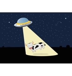 Ufo stole the cow vector