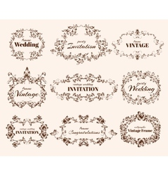 Vintage calligraphic frames vector image vector image