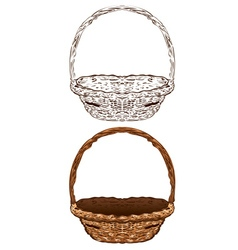 Wicker basket6 vector