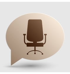Office chair sign brown gradient icon on bubble vector