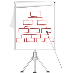 Presentation flip chart on tripod vector