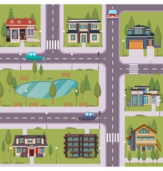 Countryside flat template vector