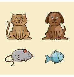 Group animals pet shop vector