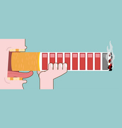 Smoker and cigarettes health and retro game vector