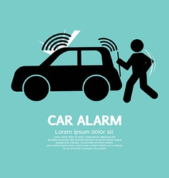 Car alarm piracy prevention symbol vector