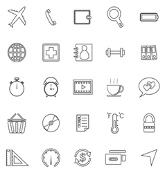 Application line icons on white background set 2 vector