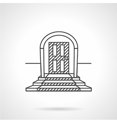 Line icon entrance door vector