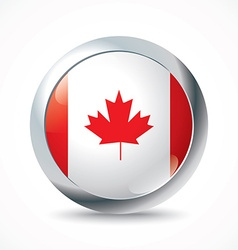 Canada flag button vector