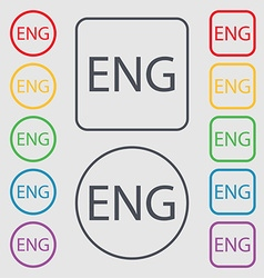 English sign icon great britain symbol symbols on vector