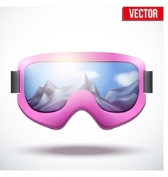 Classic vintage old school pink snowboarding vector