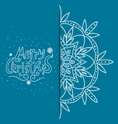 Greeting card with snowflakes vector
