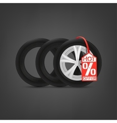 Tires sale vector