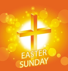 Easter sunday card with cross symbol 1 vector