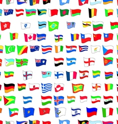 Seamless pattern with country flags vector
