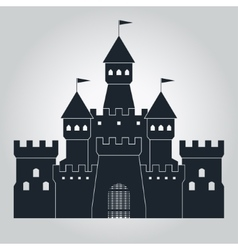 Medieval castle silhouette vector
