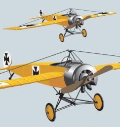 aeroplane wwi vector image