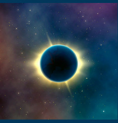 Astronomy effect solar eclipse abstract starry vector