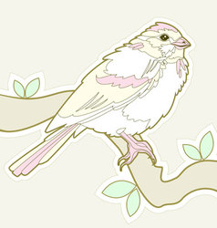 Bird sketch vector
