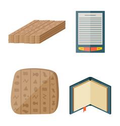 books icons document magazine publication vector image