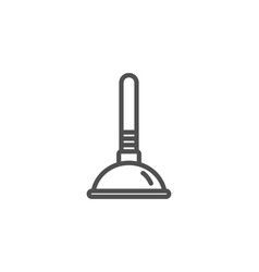 Cleaning plunger icon clogged pipes cleaner vector