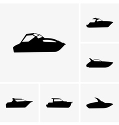 Cutter boat vector image vector image