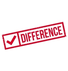 Difference rubber stamp vector