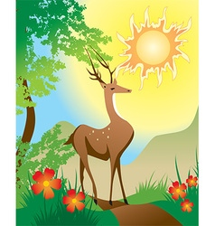Fairytale deer vector