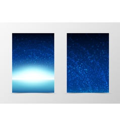 Front and back space flyer template design vector image vector image