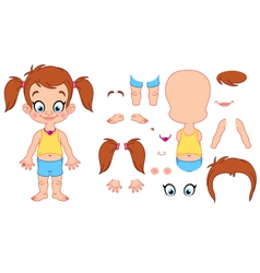 Girl assembly vector