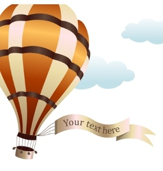 hot air balloon on the sky vector image