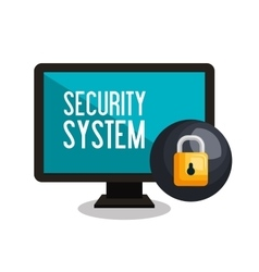 laptop security laptop system vector image