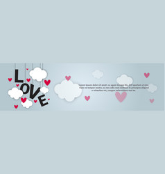Love backgorund valentines day horizontal banner vector