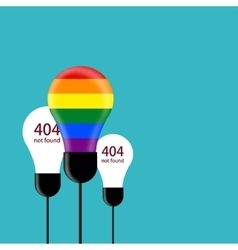 modern concept lgbt flag with light bulb vector image