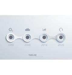 modern timeline infographic vector image vector image