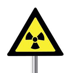 Nuclear warning sign vector image