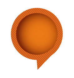 Orange chat circle bubble vector