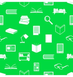 Reading books theme set of icons seamless pattern vector