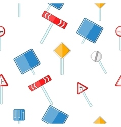 Road sign pattern cartoon style vector