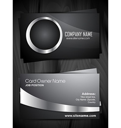 stylish business card design vector image vector image