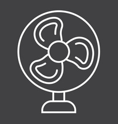 Table fan line icon household and appliance vector