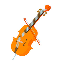 violin icon isometric style vector image vector image