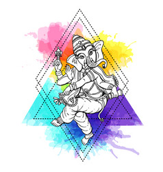 with ganesha vector image vector image