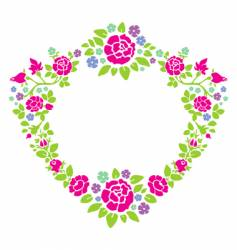 wreath of roses vector image vector image