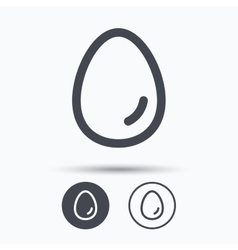Egg icon breakfast food sign vector