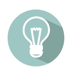 Bulb light isolated icon vector