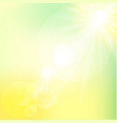 Sun shiny sunlight from the sky nature with vector