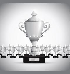 Set of trophies vector